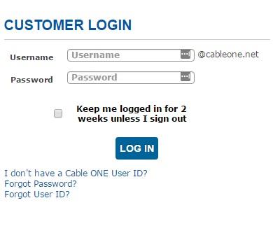 mycableone net login