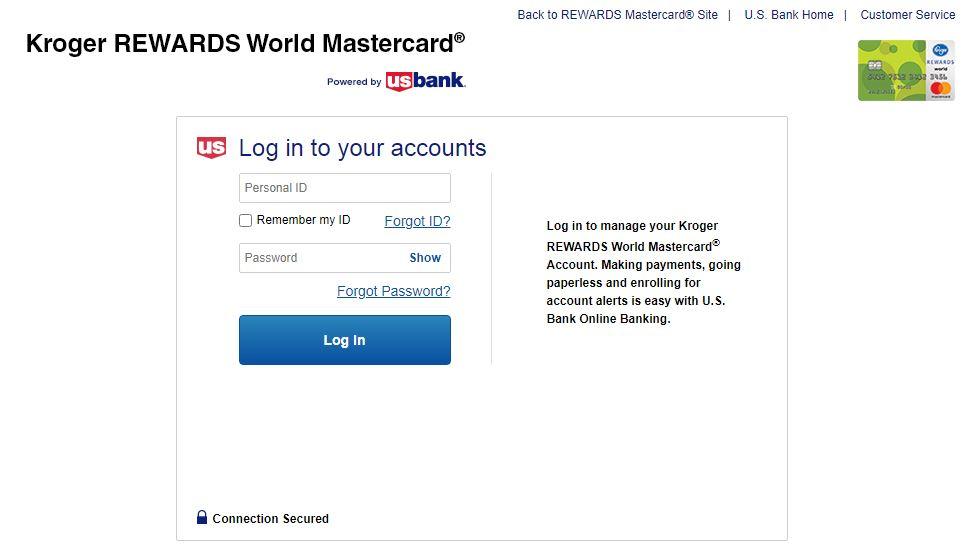 kroger credit card login