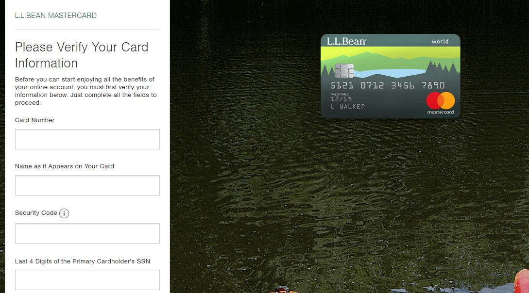llbean credit card login